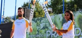 Solenidade militar marca passagem da Tocha Olímpica em Cuiabá