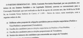 CONVENÇÃO MUNICIPAL DEMOCRATAS 25