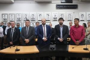 Deputados e Secretário de Governo Augusto Jorge - foto Felipe Deliberaes/Assessoria de Imprensa