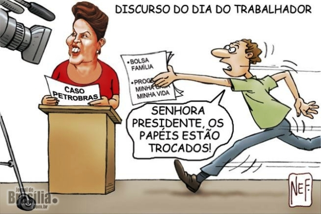 charge discurso dilma