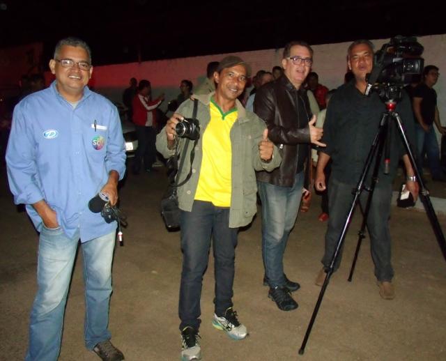 Repórter Roni Garcia, Pedro Miguel, Joca de Souza e Neidson Garcia - Foto Celso Antunes