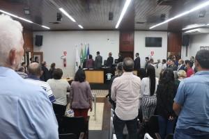 Patriotismo: Hino Nacional. foto Felipe Deliberaes/Assessoria de Imprensa